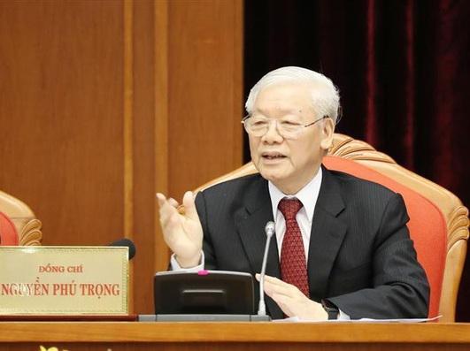 Tổng Bí thư Chủ tịch nước Nguyễn Phú Trọng phát biểu khai mạc Hội nghị.
