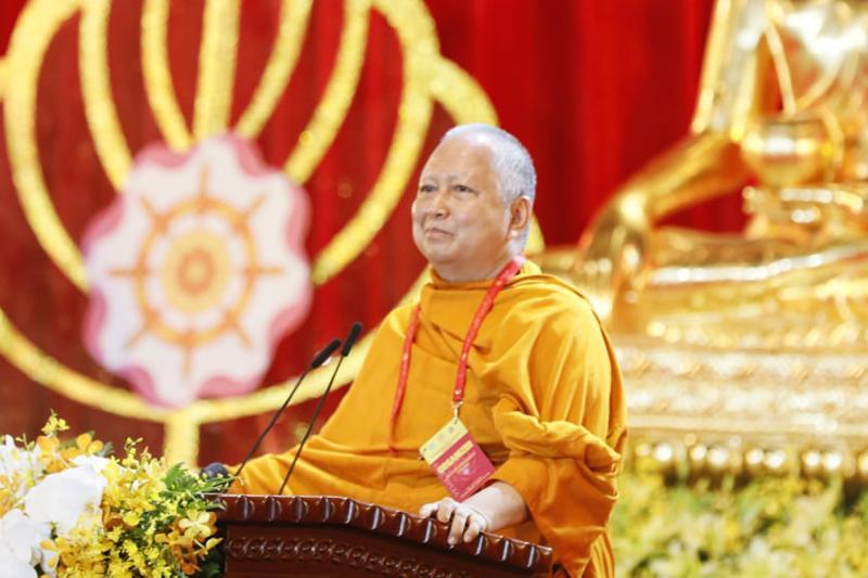 Hòa thượng Phra Brahmapundit phát biểu tại lễ bế mạc