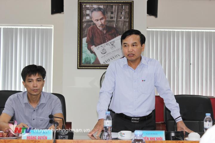 Ông Nguyễn Như Khôi - Tỉnh ủy viên, Giám đốc Đài PT-TH Nghệ An phát biểu tại hội nghị.
