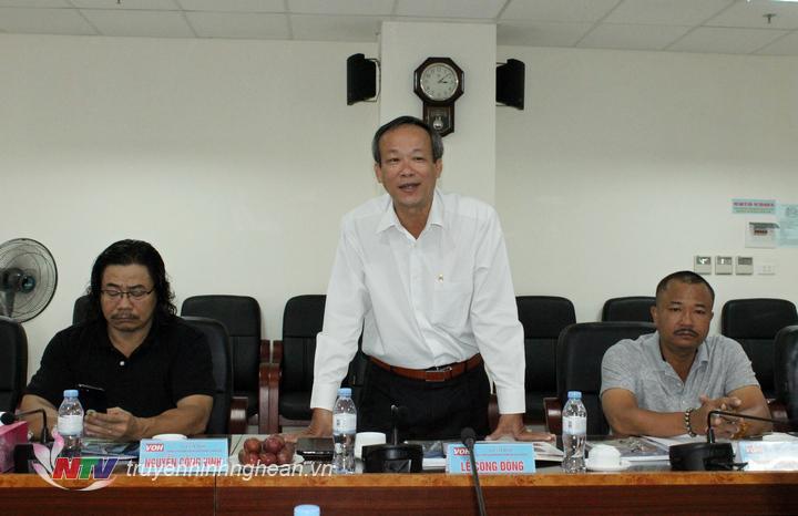 Ông Lê Công Đồng - Giám đốc Đài Tiếng nói nhân dân TP Hồ Chí Minh phát biểu tại hội nghị.