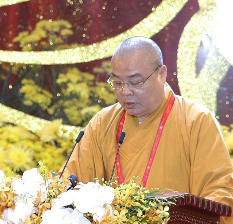 Hoà Thượng Thích Thanh Nhiễu – Phó Chủ tịch Thường trực Hội đồng Trị sự Giáo hội Phật giáo Việt Nam.