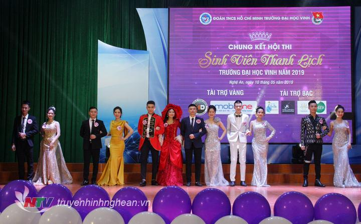 6 cặp thí sinh trong đêm chung kết Hội thi Sinh viên thanh lịch Đại học Vinh 2019
