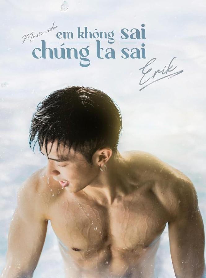 Erik khoe thân hình rắn rỏi, nam tính trên poster MV mới.