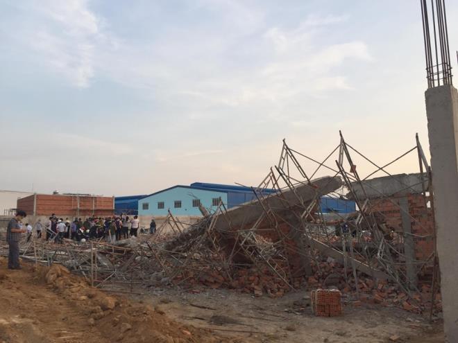 Hiện trường vụ sập công trình khiến 10 người chết ở Đồng Nai.