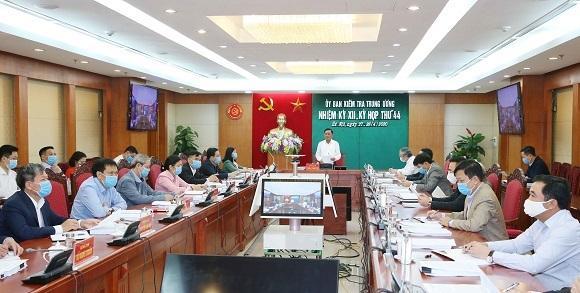 Đồng chí Trần Cẩm Tú chủ trì cuộc họp. Ảnh UBKTTW
