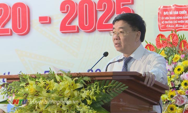 Phó Bí thư Tỉnh ủy Nguyễn Văn Thông phát biểu chỉ đạo Đại hội.