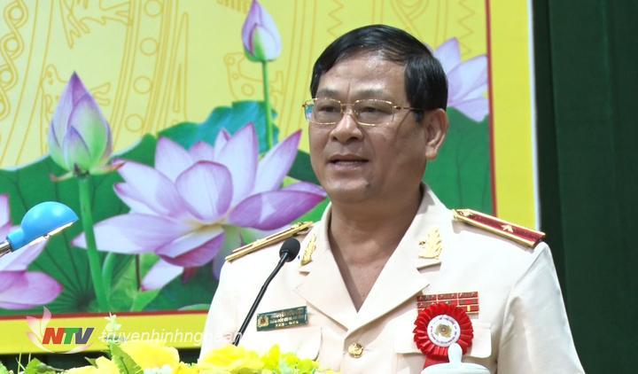 Thiếu tướng Nguyễn Hữu Cầu, Ủy viên BTV Tỉnh ủy, Bí thư Đảng ủy, Giám đốc Công an tỉnh