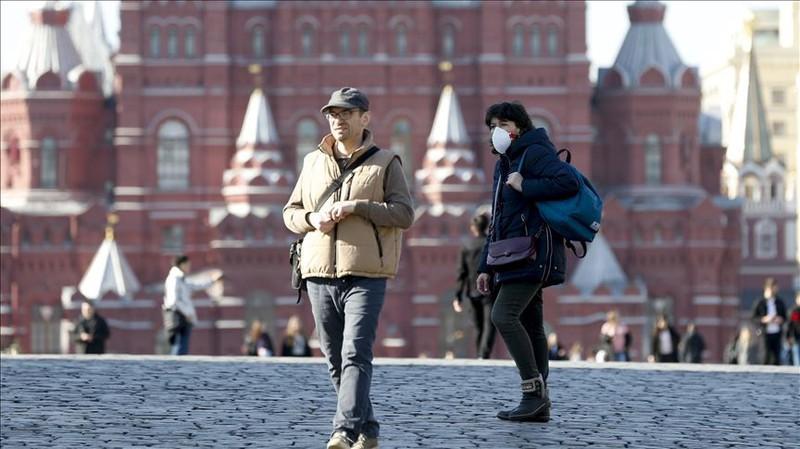 Nga hiện là nước có số ca mắc Covid-19 cao thứ 7 thế giới. Ảnh: Anadolu