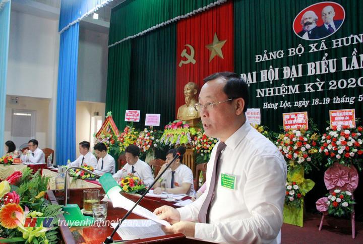Bí thư Thành ủy Vinh Phan Đức Đồng phát biểu chỉ đạo ĐH.