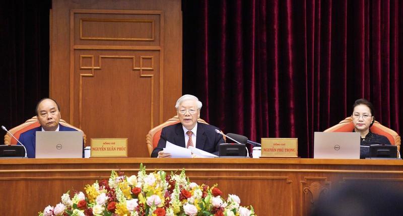 Tổng Bí thư, Chủ tịch nước Nguyễn Phú Trọng phát biểu tại hội nghị.