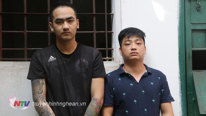 Hai đối tượng Nguyễn Mạnh Hải và Bùi Duy Thành.
