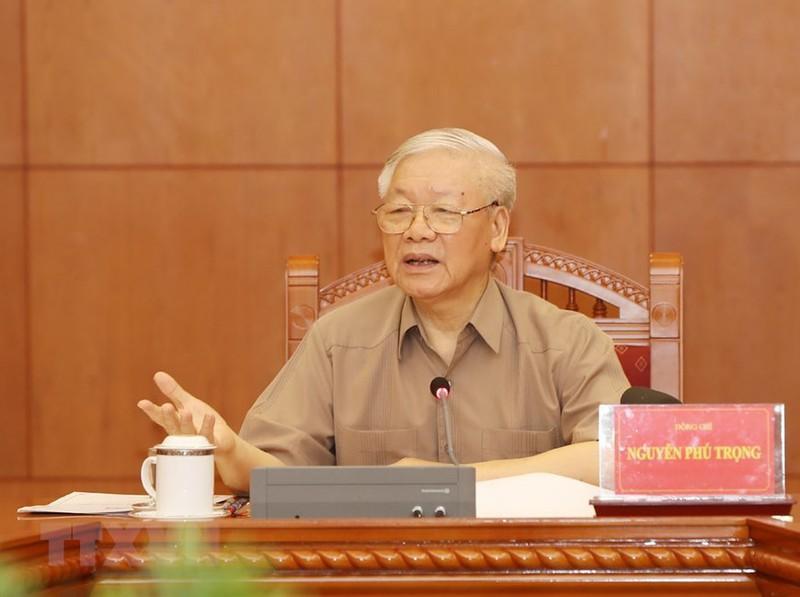 Tổng Bí thư, Chủ tịch nước phát biểu tại cuộc họp