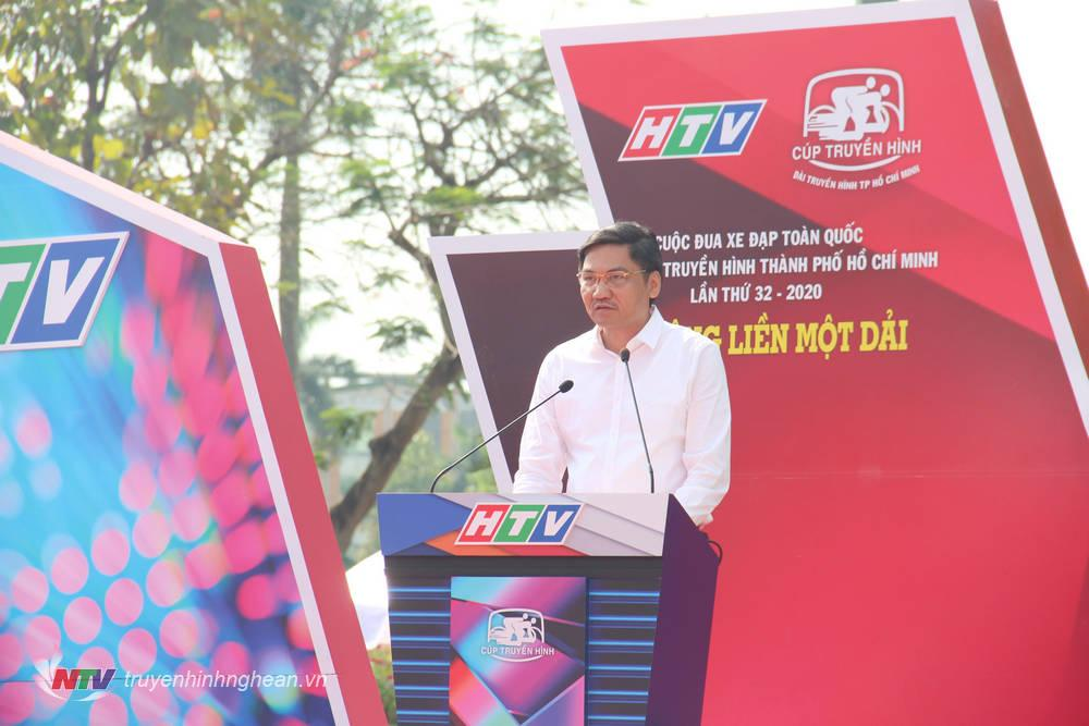 Phó Chủ tịch UBND tỉnh Nghệ An - Ông Hoàng Nghĩa Hiếu phát biểu chào mừng.