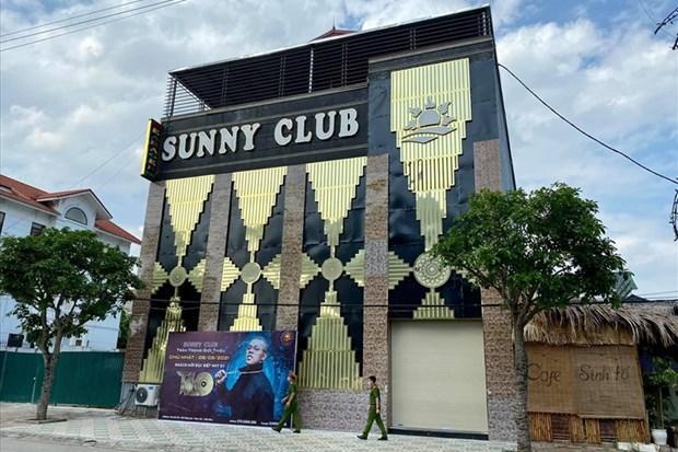 Hình ảnh quán bar-karaoke Sunny ở tỉnh Vĩnh Phúc. (Nguồn: laodong.vn)