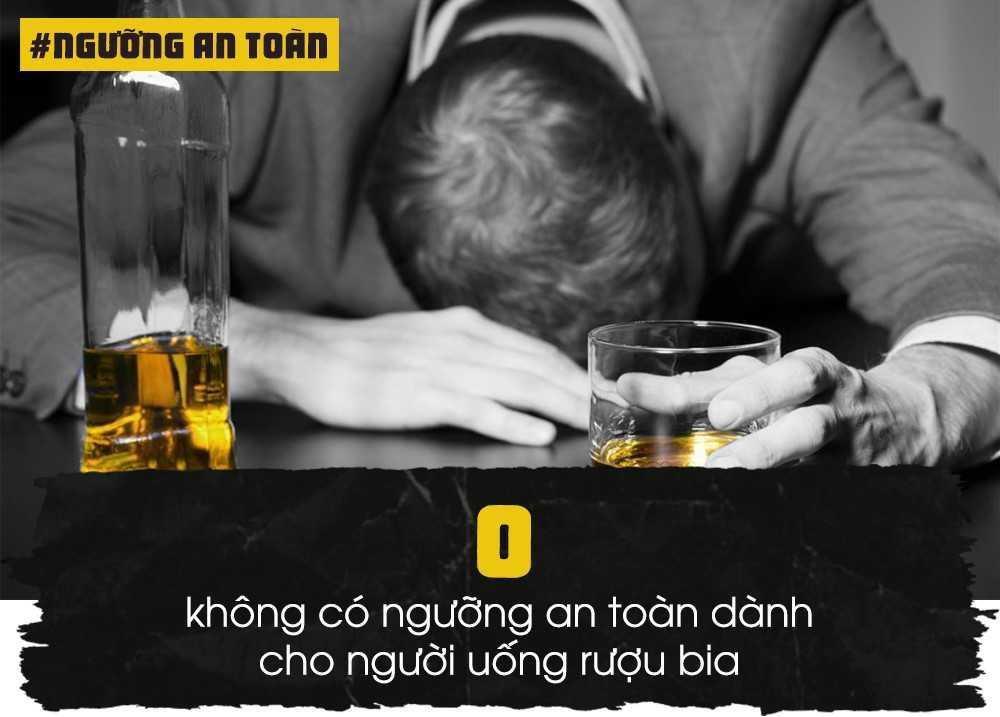 Theo TS Nguyễn Huy Quang, Vụ trưởng Vụ Pháp chế, Bộ Y tế, không có ngưỡng an toàn cho con người khi sử dụng rượu bia. Thực tế, nhiều người chỉ ngửi thấy mùi rượu đã say nhưng có những đối tượng uống 6-7 ly không sao. Điều quan trọng là mức độ phân giải của cồn trong máu và thời gian uống đảm bảo khoảng cách. Cồn chưa kịp phân giải trong máu lại uống tiếp, uống bồi sẽ có tác hại với sức khỏe.