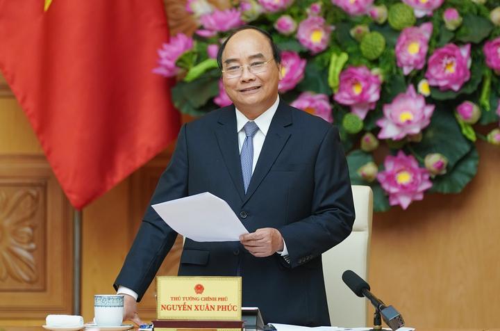   Thủ tướng Nguyễn Xuân Phúc phát biểu tại cuộc gặp mặt. Ảnh  