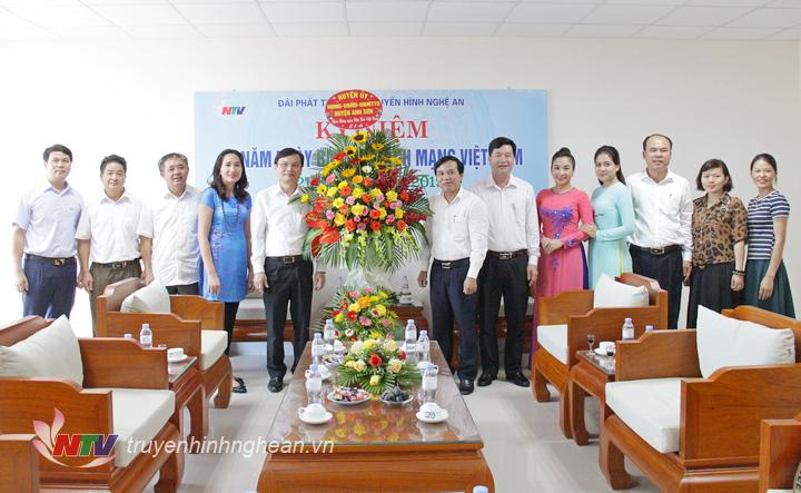 Lãnh đạo huyện Anh Sơn chúc mừng Đài nhân ngày Báo chí Cách mạng Việt Nam 21/6.