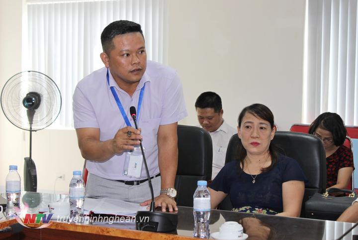 Nhà báo Nguyễn Kiều Hưng - Trưởng phòng Biên tập - TTĐT báo cáo kết quả phối hợp 6 tháng đầu năm 2019.