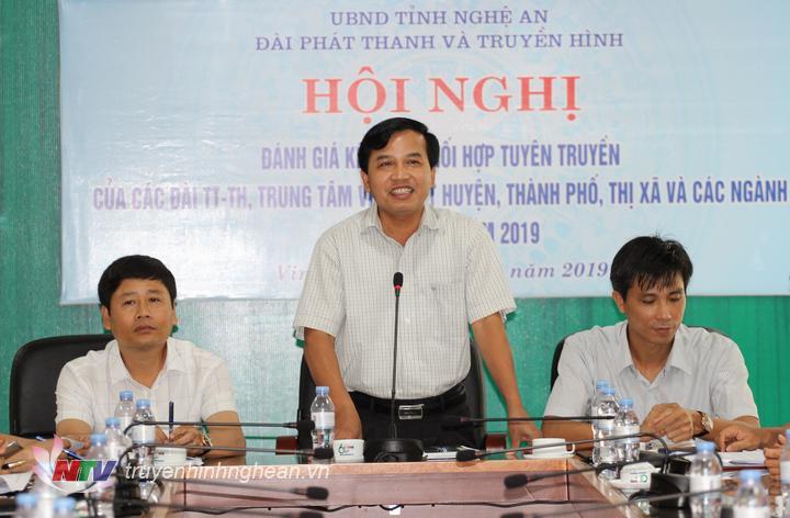Đồng chí Nguyễn Như Khôi - Tỉnh ủy viên, Giám đốc Đài PT-TH Nghệ An phát biểu kết luận hội nghị.