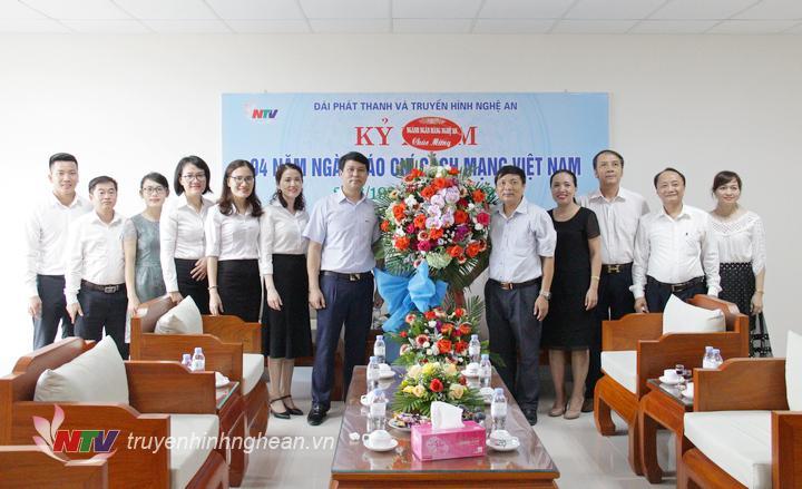 Ngành Ngân hàng Nghệ An chúc mừng tập thể cán bộ, PV, KTV Đài nhân ngày Báo chí 21/6.