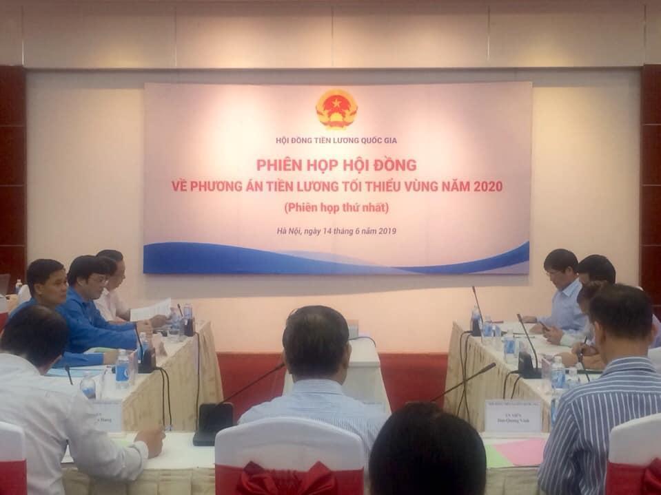Phiên họp đầu tiên của Hội đồng tiên lương quốc gia năm 2019.
