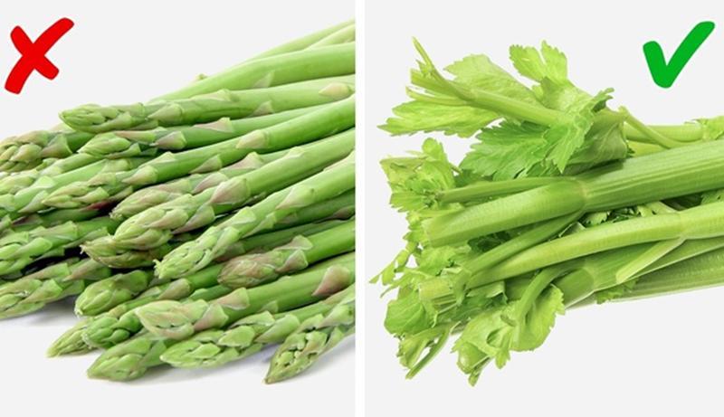 Măng tây vs Cần tây: Cần tây giúp cơ thể giải phóng pheromone, từ đó khiến bạn có vẻ hấp dẫn hơn với người khác giới. Trong khi, axit trong măng tây khi bị phân hủy thành các hợp chất lưu huỳnh có thể mang lại cho bạn mùi cơ thể không mong muốn.
