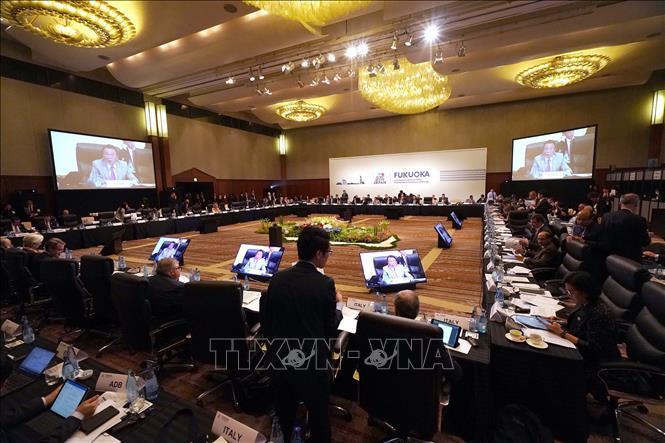 oàn cảnh Hội nghị Bộ trưởng Tài chính và Thống đốc Ngân hàng Trung ương Nhóm Các nền kinh tế phát triển và mới nổi hàng đầu thế giới (G20) ở thành phố Fukuoka, Nhật Bản ngày 8/6/2019.