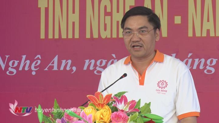 Phó Chủ tịch UBND tỉnh Hoàng Nghĩa Hiếu phát biểu tại lễ phát động.