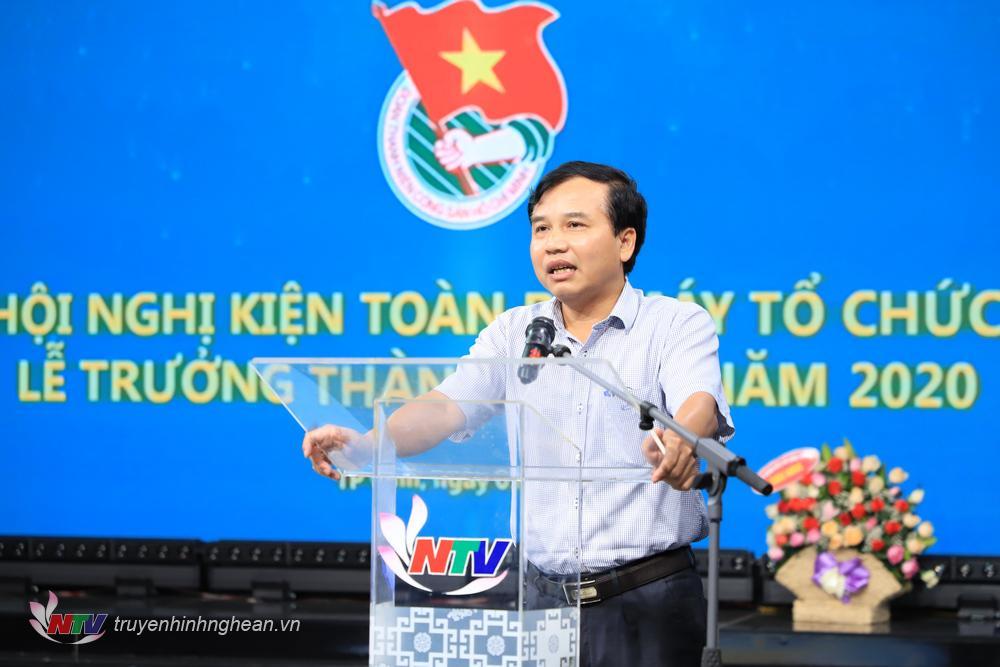 Đồng chí Nguyễn Như Khôi - Tỉnh ủy viên, Giám đốc Đài PTTH Nghệ An phát biểu tại hội nghị.