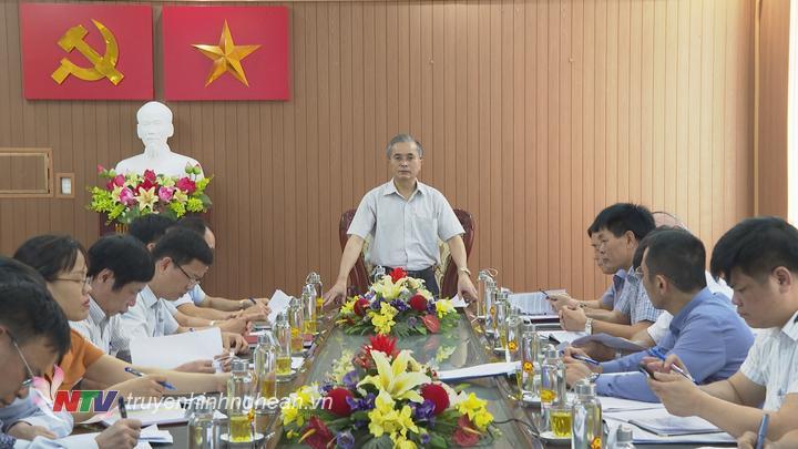 Phó Chủ tịch UBND tỉnh Lê Ngọc Hoa phát biểu kết luận tại buổi làm việc.