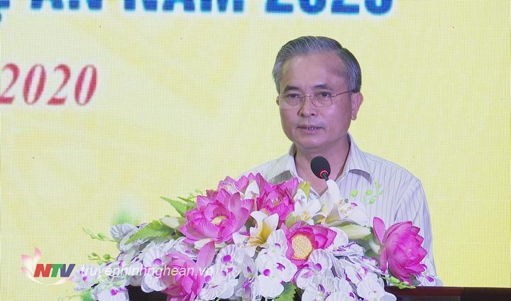 Phó Chủ tịch UBND tỉnh Lê Ngọc Hoa phát biểu tại lễ phát động.