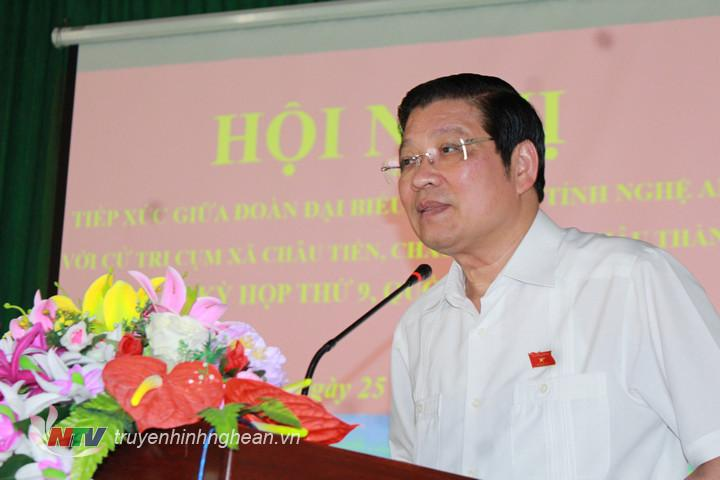 Trưởng Ban Nội chính TW Phan Đình Trạc giải trình ý kiến, kiến nghị của cử tri.