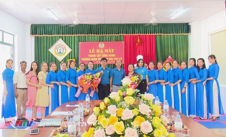 Công đoàn cơ sở Trường MN Soa Mai có 20 đoàn viên.
