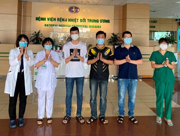 Các bệnh nhân được công bố khỏi bệnh sáng nay.