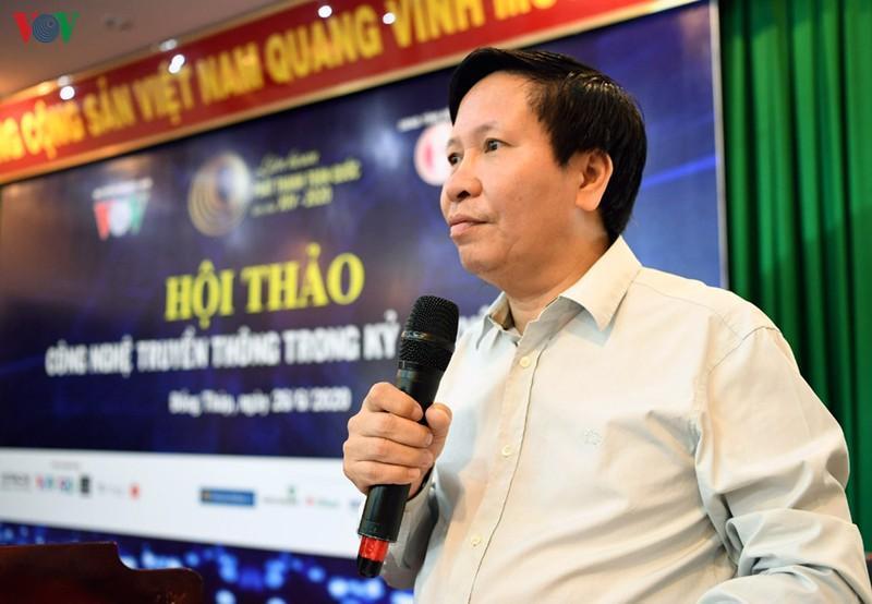Phó Tổng giám đốc Đài TNVN Vũ Hải Quang phát biểu khai mạc Hội thảo.