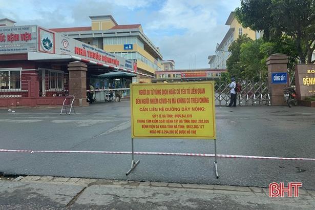 Phong tỏa tạm thời BVĐK Hà Tĩnh vì liên quan đến ca nghi nhiễm Covid-19.