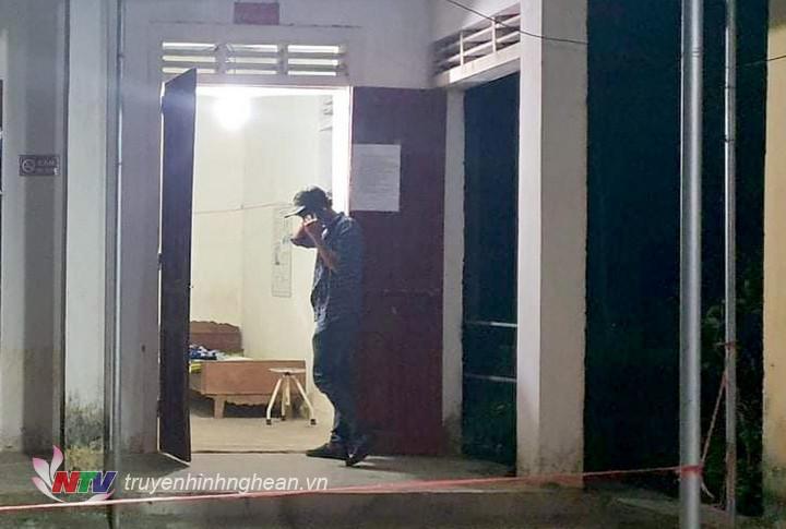 Công dân Nguyễn Công Phong được cách ly tại trạm y tế xã Đại Đồng, huyện Thanh Chương