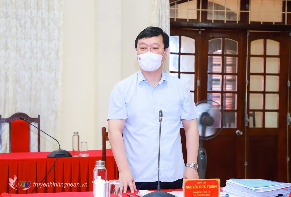 Chủ tịch UBND tỉnh Nguyễn Đức Trung phát biểu ý kiến tại hội nghị.