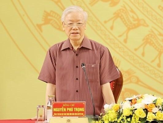 Tổng Bí thư Nguyễn Phú Trọng ghi nhận, đánh giá cao sự nỗ lực, cố gắng phấn đấu của Đảng bộ Công an Trung ương trong lãnh đạo, chỉ đạo toàn diện các mặt công tác Công an nhiệm kỳ 2015-2020.