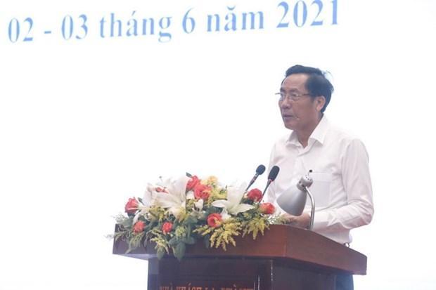 Chủ tịch Hội Nhà báo Việt Nam Thuận Hữu phát biểu Tổng kết chấm chung khảo Giải báo chí Quốc gia lần thứ XV - năm 2020.