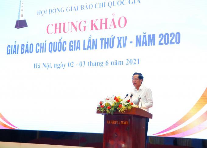 Chủ tịch Hội Nhà báo Việt Nam Thuận Hữu - Chủ tịch Hội đồng giải báo chí quốc gia, Chủ tịch Hội đồng Chung khảo giải Báo chí Quốc gia lần thứ XV - năm 2020.