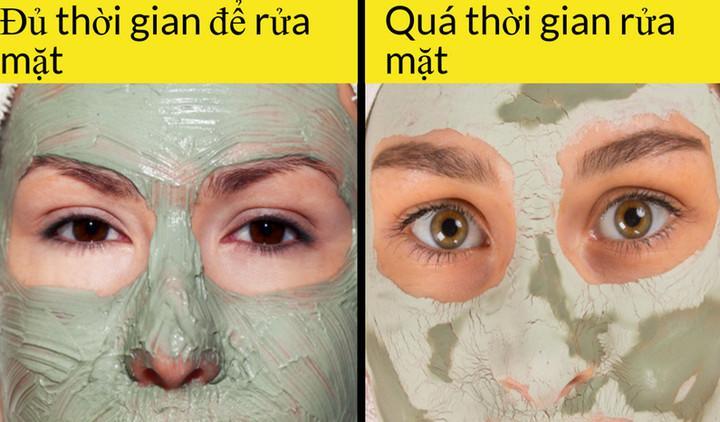 Đắp mặt nạ quá lâu không hề tốt cho da mặt. Thời gian lý tưởng là 10-15 phút. Đừng để lớp mặt khô cứng trên da mặt bạn.