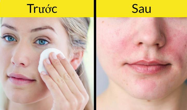 Nước tẩy trang sẽ làm sạch tất cả bụi bẩn và mỹ phẩm trên gương mặt bạn nếu bạn rửa mặt lại sau khi tẩy trang. Nước tẩy trang tiếp xúc trong thời gian dài với da mặt có thể dẫn đến kích ứng.
