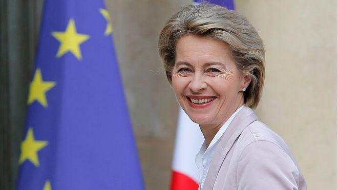 Chủ tịch đắc cử của EC Ursula von der Leyen.