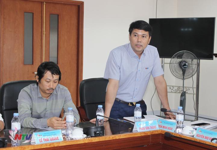 Đồng chí Phan Văn Thắng - Phó Giám đốc Đài đề xuất