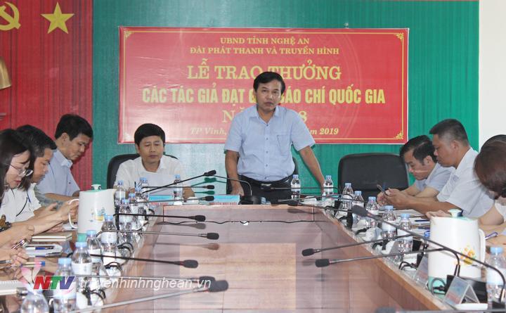 Đ/c Nguyễn Như Khôi - Tỉnh ủy viên, Giám đốc Đài phát biểu kết luận hội nghị.