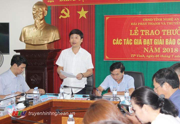 Đ/c Trần Minh Ngọc - Phó Giám đốc Đài báo cáo kết quả hoạt động 6 tháng đầu năm 2019.
