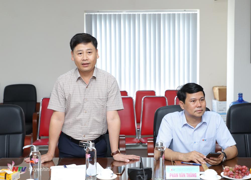 Phó Giám đốc Đài PT-TH Nghệ An Trần Minh Ngọc giới thiệu về Đài.