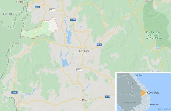 Xã Rờ Khơi, nơi xảy ra tai nạn. Ảnh: Google Maps.
