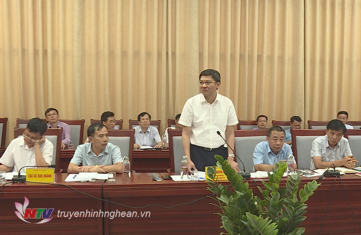 Phó Chủ tịch UBND tỉnh Hoàng Nghĩa Hiếu phát biểu tiếp thu ý kiến chỉ đạo của Thứ trưởng.